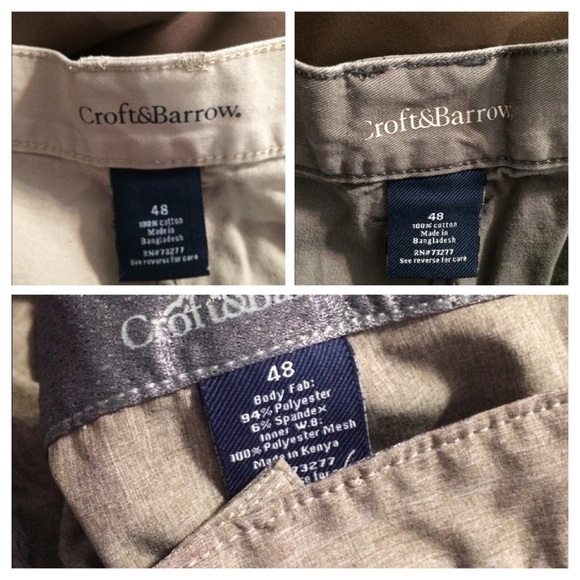 croft & barrow Other - Bundle:3x Men's CARGO Shorts:Grey/Tan/Khaki- EUC